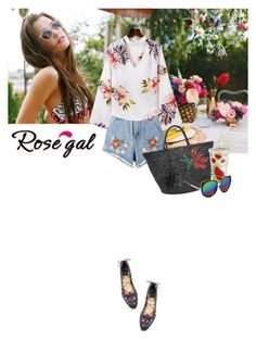 """rosegal"" by saramoreira ❤ liked on Polyvore featuring House of Holland, Tory Burch, Sensi Studio and Pier 1 Imports"