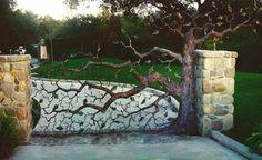 Forged Metal Tree Gate