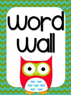 Owl Themed Word Wall Letters Chevron Background