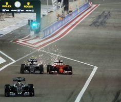 On Track at the 2015 Formula One Bahrain #F1 Grand Prix