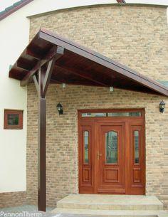 PannonTherm entrance wood door.  www.pannontherm.eu Entrance Doors, Wood Doors, Gazebo, Nova, Outdoor Structures, House, Self, Entry Doors, Wooden Doors