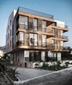 K Haus am Meer - Margareta Cultural Architecture, Facade Architecture, Residential Architecture, Design Exterior, Facade Design, Building Exterior, Building Facade, Small Appartment, Modern Villa Design