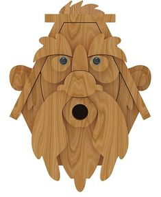 oldman-birdhouse-plans-third-front-view Building Bird Houses, Bird Houses Diy, Woodworking Crafts, Woodworking Articles, Old Man Face, How To Waterproof Wood, Bird House Plans, Small Paint Brushes, Owl Bird