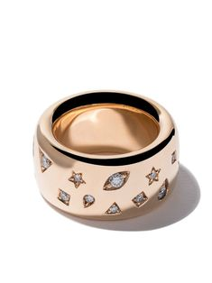 Shop online Pomellato rose gold Iconica wide band diamond ring as well as new season, new arrivals daily. Wide Band Diamond Rings, Diamond Cluster Ring, Diamond Jewelry, Gold Rings, Diamond Earrings, Gold Jewelry, Statement Jewelry, Wide Rings, Turquoise Jewelry