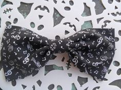 Music is the Answer Big Band Hair Bow  Musicians by tranquilityy, $4.50