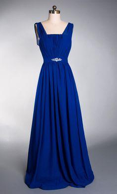 Especial Emprie Waist Long Chiffon Prom Dress FDA0237