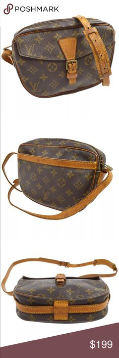 """LV Monogram Jeune Fille PM Crossbody Bag 100% Authentic Louis Vuitton Monogram Jeune Fille PM Crossbody Bag                                                                 Number:871 VI Pocket(Outside): Pocket*2 Pocket(Inside):Zipper Pocket*1  Color:Brown  Size(inch):W 9.1""""x H 6.3""""x D 2.2"""" Strap drop: 18.9""""-23.2""""  Made in France   ******This item in gently use condition as there are normal signs of wear.                *******PLEASE check the photos Louis Vuitton Bags Crossbody Bags"""