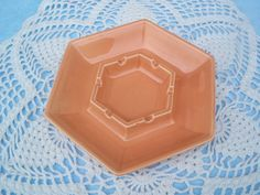 Vintage Haeger Hexagon Candy Dish Ashtray by GotMilkGlassAndMore, $7.95