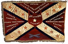 Confederate Battle Flag of the & Florida Infantry Regiments; after the Battle of Perryville, October both units were so decimated they were combined. Confederate States Of America, Confederate Flag, America Civil War, Carolina Do Sul, Abraham Lincoln, Mississippi, Civil War Flags, Southern Heritage, Southern Pride