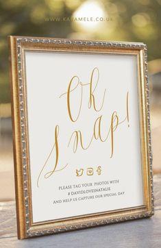 KarameleShop Oh Snap Wedding Sign