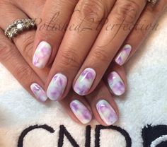 CND Shellac Watercolour Pastel Nails!