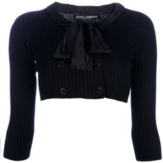 DOLCE & GABBANA Cropped cardigan ($520) ❤ liked on Polyvore