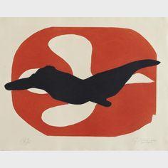 Georges Braque (1882-1963) - L'ORDRE DES OISEAUX, PL. 7, 1962 [VALLIER, 182] French | Colour etching and aquatint;
