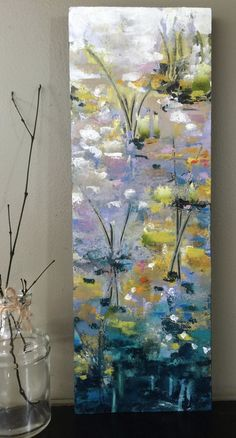 Available Artwork — Jill Van Sickle Painting Flowers Tutorial, Flower Painting Canvas, Abstract Landscape Painting, Landscape Art, Painting Inspiration, Art Pictures, Flower Art, Amazing Art, Watercolor Art