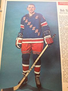 477f79f39 BOB NEVINS NEW YORK RANGERS! Weekend Magazine Article 1967 RARE! Vintage