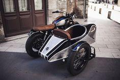 Side-car Triumph Bonneville Alliance par BAAK Motocyclettes