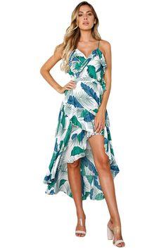 Pins And Needles Strapless Chiffon Maxi Dress // urban outfitters Ruffle Dress, Boho Dress, Dress Skirt, Dress Up, Waist Skirt, Maxi Floral, Floral High Low Dress, Floral Dresses, Women's Dresses