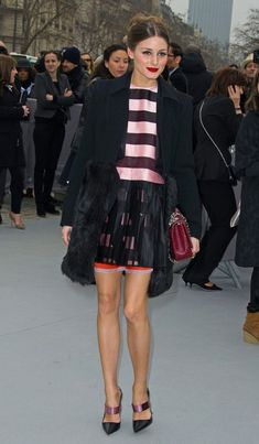Olivia Palermo in Dior at the Christian Dior show #PFW F/W13