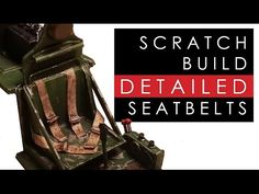 Dave's Model Workshop: Video tutorial: How to scratch build detailed seatbelts and harness for an aircraft cockpit