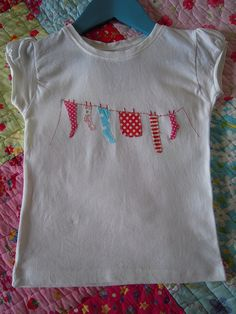 i need to do this to one of my girls shirts!!  so cute!!