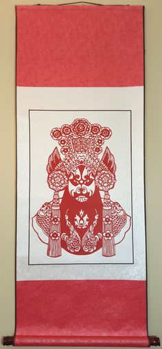 Chinese traditional handmade paper cutting hanging picture/ Peking Opera by 123hand on Etsy