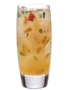 Spiced-Apple Martini    2 oz. Captain Morgan Spiced Rum  2 oz. sour-apple mix  Splash of pineapple juice  Garnish: apple slice    Pour all ingredients over ice, and shake. Strain into a martini glass, and garnish.