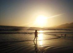 sunset walk on the beach...love the silhouette