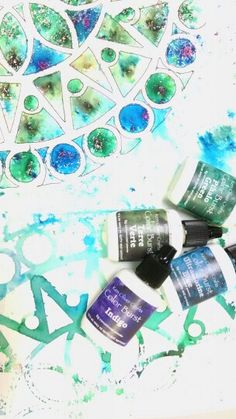 My new paint obsession :  Ken Olivers color burst watercolor powders
