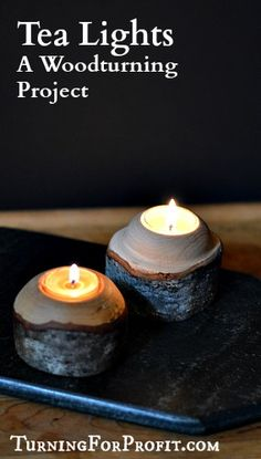 Tea Lights - A Woodturning Project - Turning for Profit