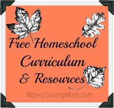 Look at this GIANT list of Free Homeschool Curriculum and Resources. If you aren't a homeschooler, but you're a parent, teacher, babysitter, or nanny, you'll probably find at least a few useful freebies in this list.