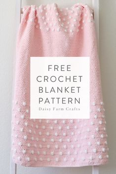 Free Crochet Pattern – Polka Dot Ends Blanket Free Crochet Pattern – Polka Dot Ends Blanket,Babydecke Free Crochet Pattern – Polka Dot Ends Blanket There are images of the best DIY designs in the. Crochet Afghans, Crochet Blanket Patterns, Knit Or Crochet, Baby Blanket Crochet, Crochet Crafts, Crochet Stitches, Free Crochet, Free Newborn Knitting Patterns, Baby Blanket Knitting Pattern Free