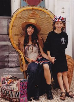 Editorial Style: Jane Birkin + Lou Doillon in Glamour