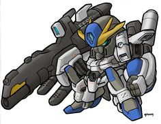 >.< a bit rushed.... sd version of gundam h-arms custom from gundam wing EW/designed hajime katoki.. ps6
