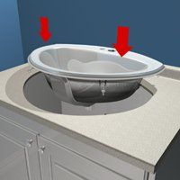 How To Install A DropIn Bathroom Sink YouTube DIY Pinterest - Drop in bathroom sink installation