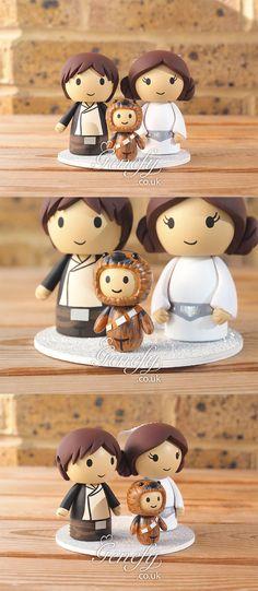 Han Solo + Princess Leia + Little Chewbacca Boy by Genefy Playground https://www.facebook.com/genefyplayground