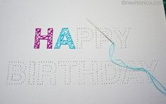 embroidered birthday cards