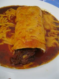 Crockpot Chile Colorado Burritos