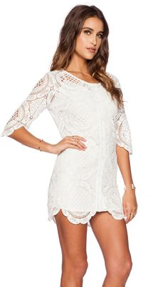 The Wallflower Daisy Lace Dress in White   REVOLVE