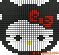 Ninja Hello Kitty perler bead pattern
