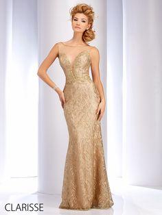 Clarisse 2016 Couture Prom Dress Style 4745 Long Elegant Y Ed Unique Metallic Gold