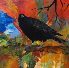 Crow on a Branch by RobinMariaPedrero on Etsy, 19.99