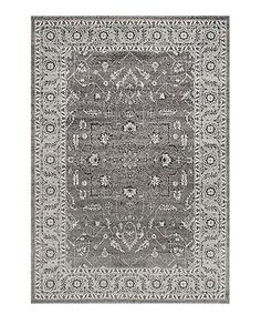 Love this Dark Gray Abbey Blossom Rug on #zulily! #zulilyfinds