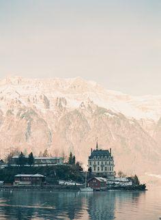 Lakeside Town of Iseltwald Switzerland