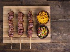 Heerlijke huisgemaakte rundersaté van ossenhaaspuntjes Mykonos, Nutella, Bbq, Steak, Food, Barbecue, Barbacoa, Meal, Eten