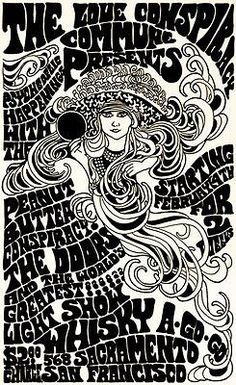 The Peanut Butter Conspiracy - The Doors  1967  Whiskey A Go Go - Concert Poster