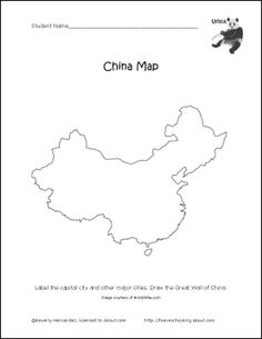blank printable blank map of china w provinces 2012 2013 school year possibilities. Black Bedroom Furniture Sets. Home Design Ideas