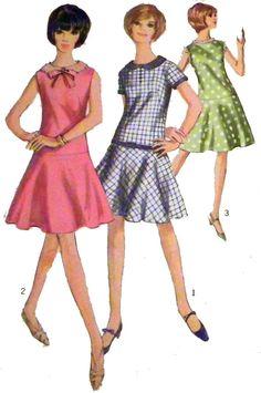 1960s Drop Waist Sundress Sewing Pattern Size by retroactivefuture, $8.00