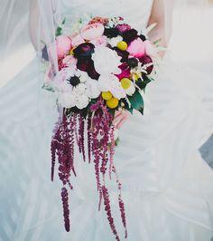 hot pink summer bouquet