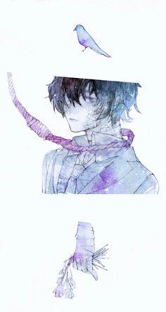It's Sad becoz he's Sad Manga Anime, Manga Art, Anime Guys, Anime Art, Dazai Bungou Stray Dogs, Stray Dogs Anime, Dazai Osamu, Chibi, Fanart