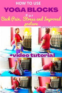 How To Use Yoga Blocks For Back Pain, Anxiety And Improved Posture - yogarsutra Kundalini Yoga, Ashtanga Yoga, Vinyasa Yoga, Yoga For Flat Tummy, Fish Pose, Kids Blocks, Cobra Pose, Yoga For Back Pain, International Yoga Day